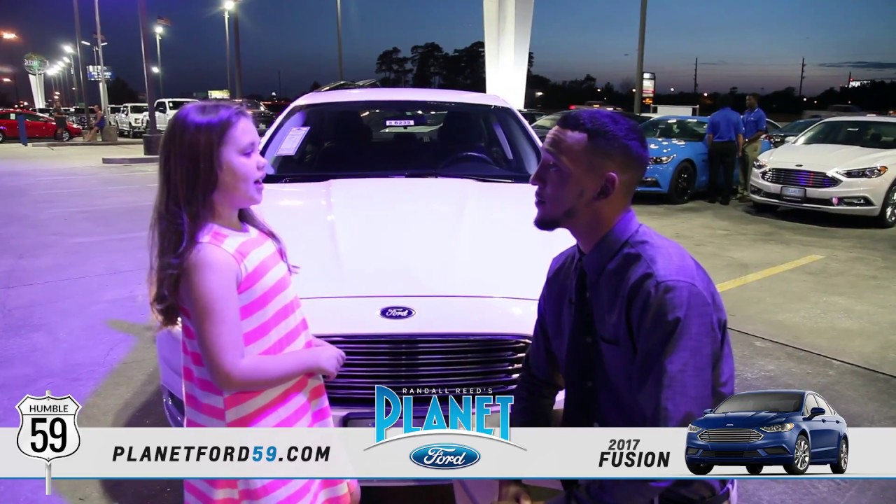 Planet Ford Humble Tx >> 2017 Ford Fusion Walk Around With Xavier And Isabella Planet Ford 59 Humble Texas
