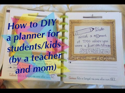 How to do planning with KIDS and students - Homeschool + School \\ Tutorial - Student Agenda