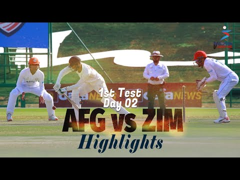Afghanistan vs Zimbabwe Highlights | 1st Test | Day 2 | Afghanistan vs Zimbabwe in UAE 2021