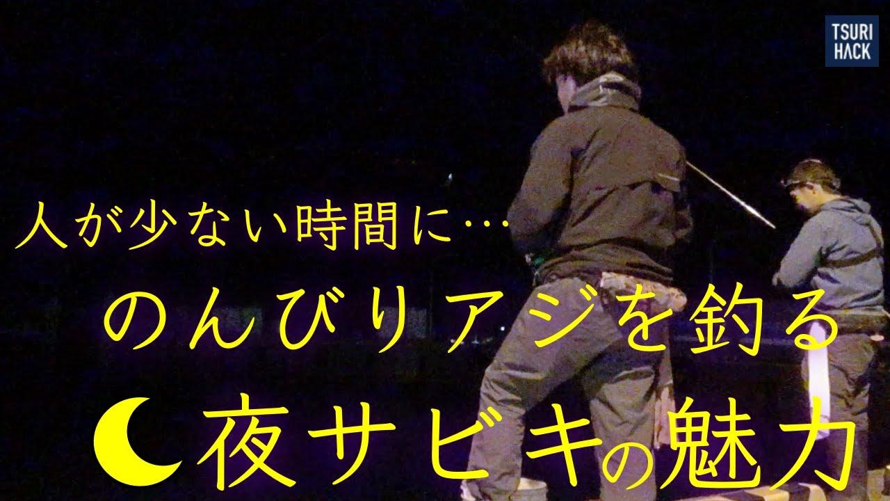人が集中する時間を避けてアジを釣る!のんびり派には夜のサビキ釣りが超オススメ。