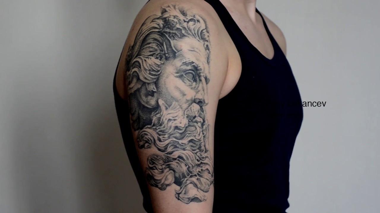Poseidon Tattoo: Poseidon Tattoo. Kery Lukancev