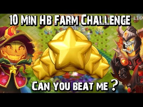 Castle Clash 10 Min HB Farm Challenge!!