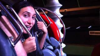 bizarre insane spinning roller coaster pov at stargate indoor theme park dubai united arab emirates