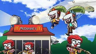 Minecraft | SNEAKING INTO MCDONALDS REALM! (Stealing the Special Szechuan Sauce))