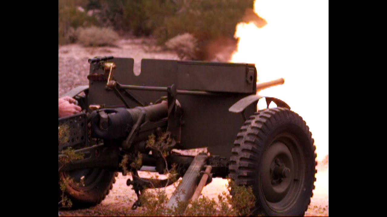 German 50 Mm Anti Tank Gun: US M3 37mm Anti-Tank Gun (including Slow Motion!)