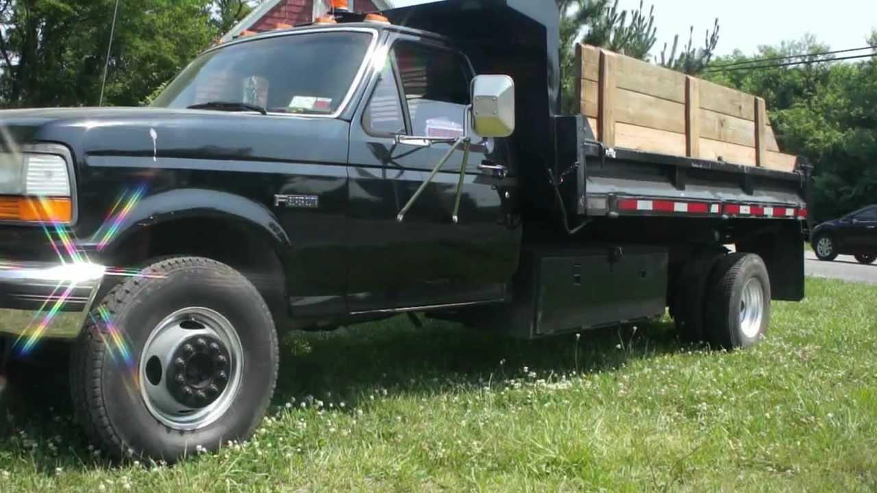 sold 1995 ford f450 super duty 7 3l diesel mason dump truck for sale sold youtube [ 1280 x 720 Pixel ]
