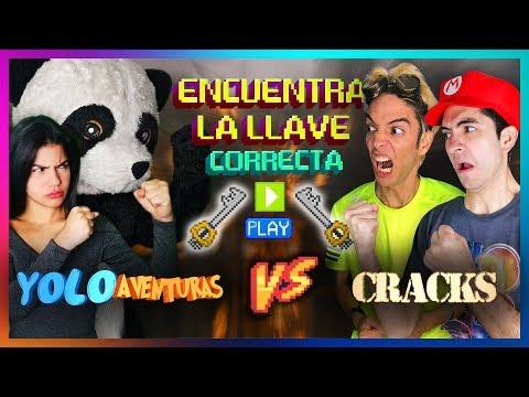 ENCUENTRA LA LLAVE CORRECTA Y GANA 10,000$   YOLO AVENTURAS VS CRACKS