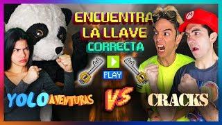 ENCUENTRA LA LLAVE CORRECTA Y GANA 10,000$ | YOLO AVENTURAS VS CRACKS