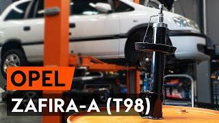 Pozrite si video sprievodcu ako vymeniť Tlmiče perovania na OPEL ZAFIRA A (F75_)