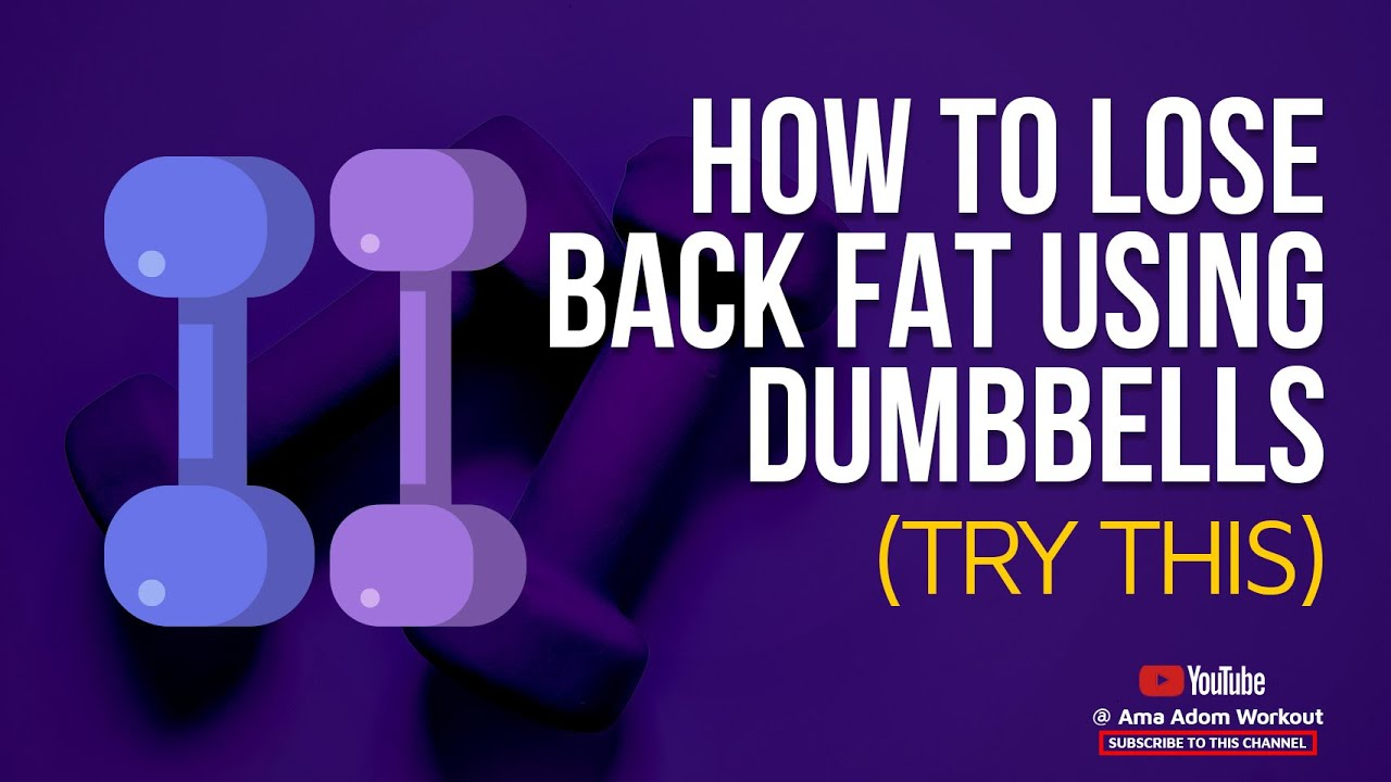 How to lose back FAT using dumbbells | Home workout (Try this)