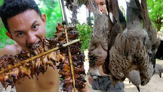 Shoot birds Near my village and Cooking Fried Dove by underground extremely delicious thumbnail