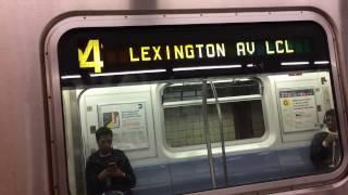 NYC Subway: Manhattan bound R142/A (4) (5) Trains @Franklin Ave Via LCL Track