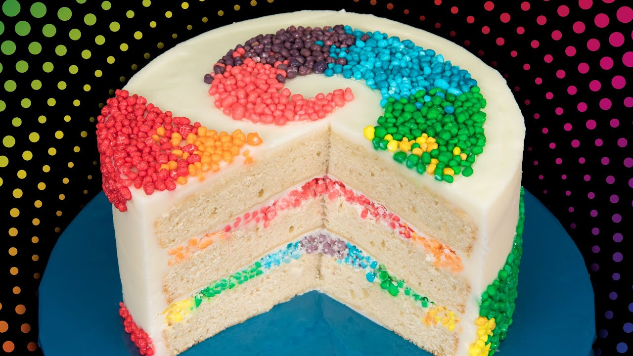 Rainbow Nerds Candy Cake From Cookies Cupcakes And Cardio Youtube