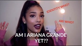 JessChic FORCING herself to be Ariana Grande for 4 minutes straight