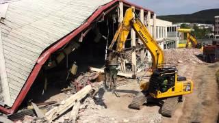 ebbw vale leisure centre being demolished 01 7 14