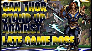 Smite - CAN THOR STAND UP AGAINST LATE GAME POSEIDON? - Grandmasters Ranked 1v1 Duel