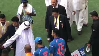Indian team with UAE prime minister || INDIA VS PAKISTAN LIVE ASIA CUP 2018