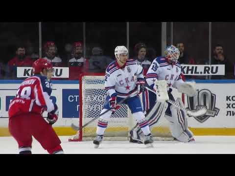 Mikko Koskinen in action  during the CSKA@SKA hockey game 4.04.18