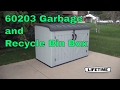 Lifetime 60203 Garbage and Recycle Bin Box