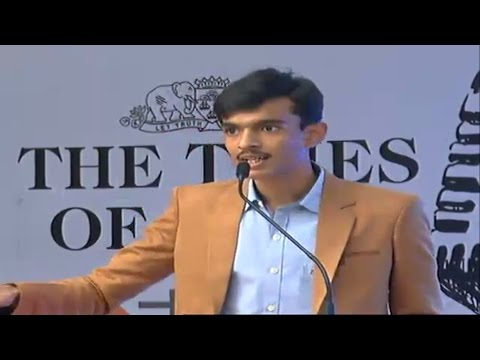 Times of india contest - 2016 winning speech - Manthan Goswami