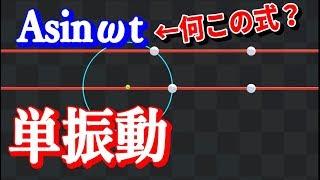 【高校物理】単振動の公式を説明してみた【物理エンジン】