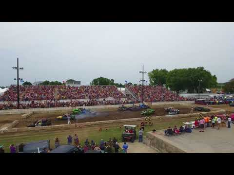 Demo Derby compact class at the Dodge County Fair near Beaver Dam Wisconsin