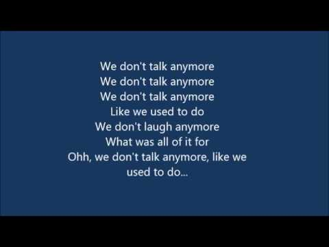 (Official Lyrics)We Don't Talk Anymore: Charlie Puth & Selena Gomez