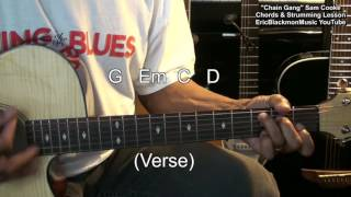 Sam Cooke CHAIN GANG Acoustic Guitar Chords & Strumming Lesson EricBlackmonMusicHD YouTube