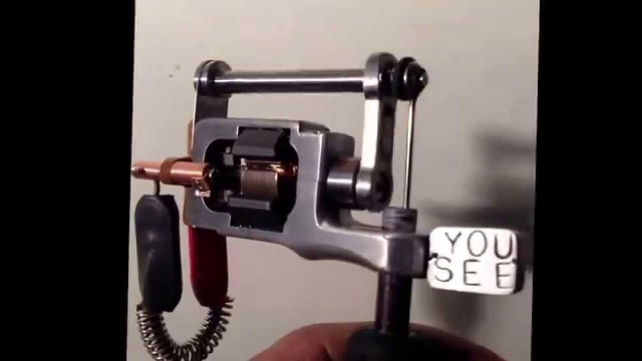Hand made rotary tattoo machine youseetattoomachines for How to make a home made tattoo machine