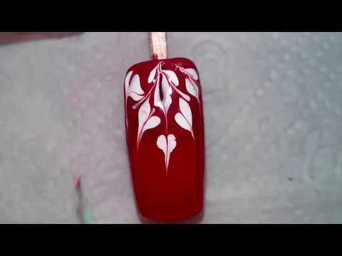 Дизайн ногтей / Выдувание лака из трубочки / Graffiti Nail Art Design Tutorial /  MixStyleCappuccino
