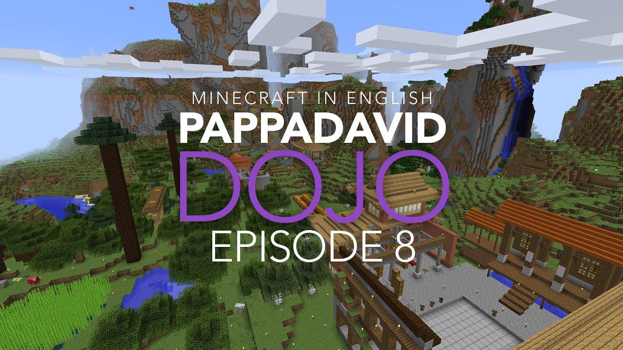 building a bridge the minecraft dojo pappadavid in english episode 8