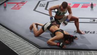 Rose Namajonas destroys Michelle Waterson's stomach (UFC 2: Ryona Edition)