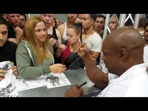 Fibo 2017 with 8x Mr.  olympia Ronnie Coleman