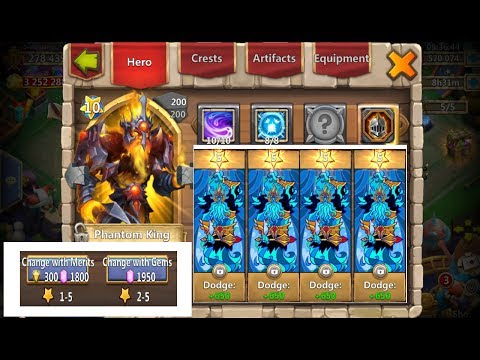 Rolling Perfect 5* DODGE Traits For Phantom King CRAZY Castle Clash