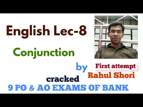 English : Conjunctions for all Bank and insurance sector exams
