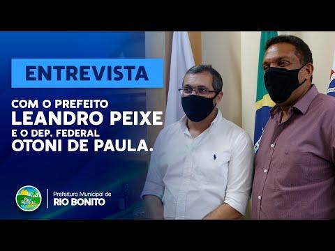 ENTREVISTA COM O PREFEITO LEANDRO PEIXE E O DEPUTADO FEDERAL OTONI DE PAULA