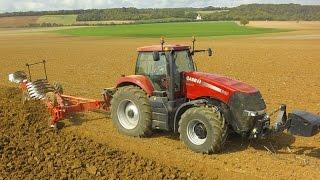 case ih magnum 340 traktor mit grgoire besson on land pflug