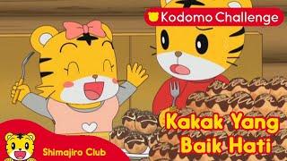 Shimajiro   Pendidikan Anak   Kakak yang Baik Hati Ep. 77.1 - Kodomo Challenge