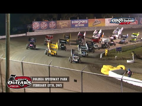 Highlights: World of Outlaws Sprint Cars Volusia Speedway Park February 13th, 2015