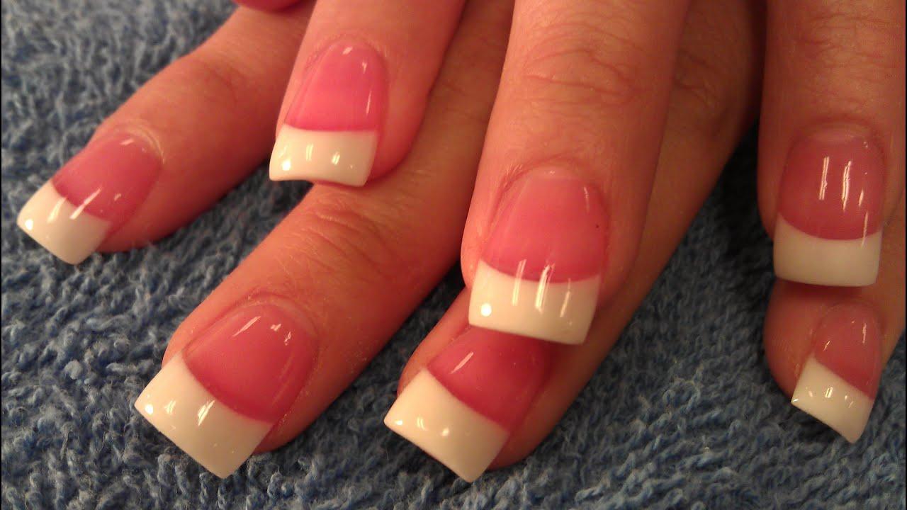 Enchanting Pink White Nails 2 Images - Nail Art Ideas - morihati.com