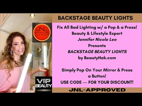 Backstage Beauty Light by Jennifer Nicole Lee! Use Code … at www.BeautyHak.com
