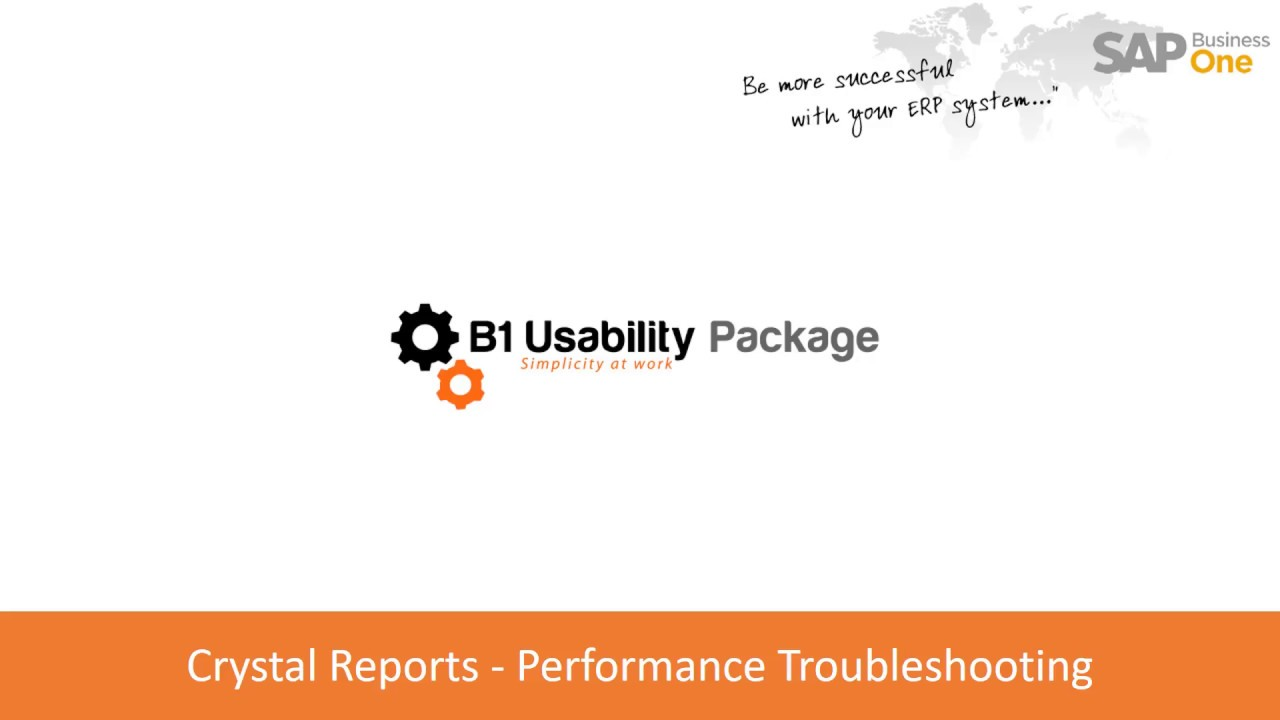 Crystal Reports - Performance Troubleshooting - YouTube