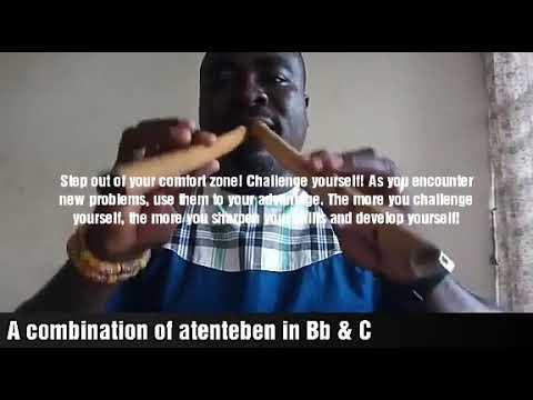 Atenteben a bamboo flute originated from Ghana