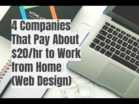 4 Companies That Pay About $20/hr to Work from Home (Web Design)