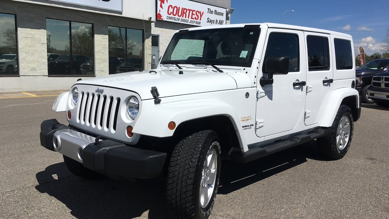 2012 jeep wrangler unlimited sahara bright white courtesy chrysler [ 1280 x 720 Pixel ]