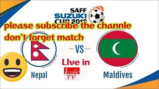 Saff Suzuki 2018 Live Streaming Match: NEPAL vs MALDIVES Live by image tv