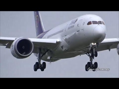 Thai Airways 787 Dreamliner Landing w/ Focus on the RAM Air Turbine @ KPAE Paine Field