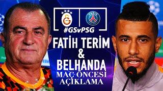 🎙 Teknik direktörümüz Fatih Terim ve oyuncumuz Younès Belhanda'nın basın toplantısı | #GSvPSG #UCL