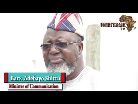 5 minutes with Minister of Communication, Barr. Adebayo Shittu