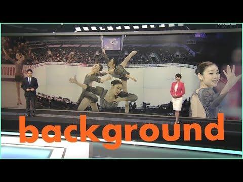 virtual studio background lighting for sports news chroma key set
